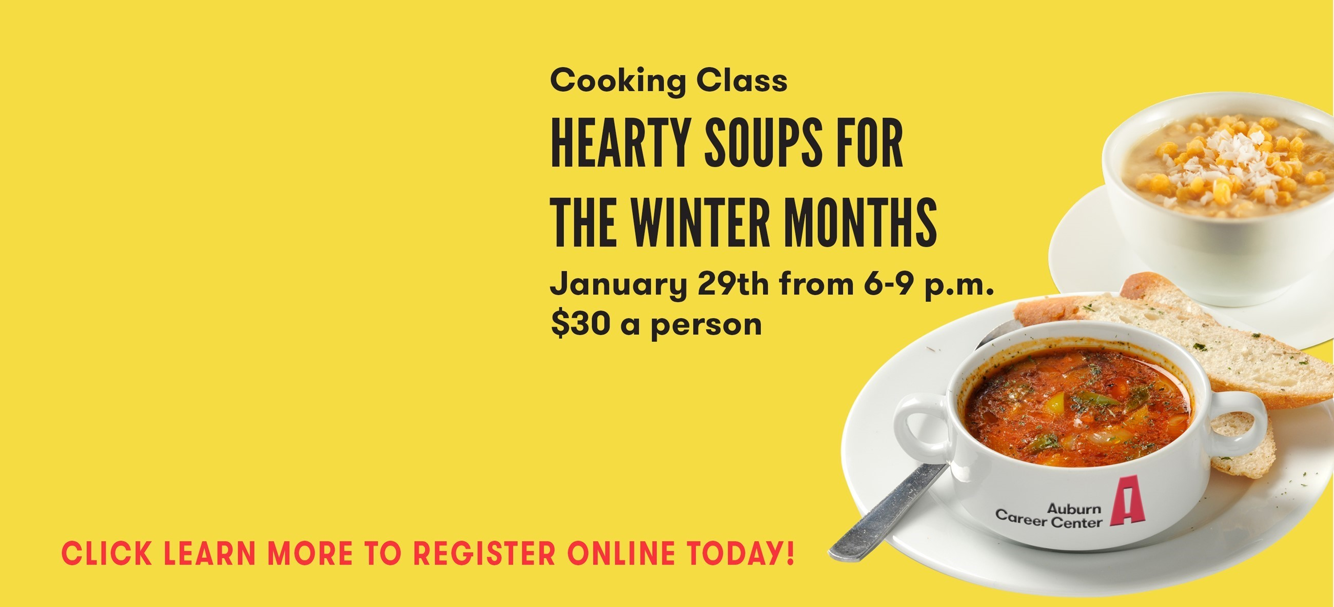 bowls of soup with information about soup class