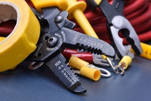 electrical tools laying on a surface